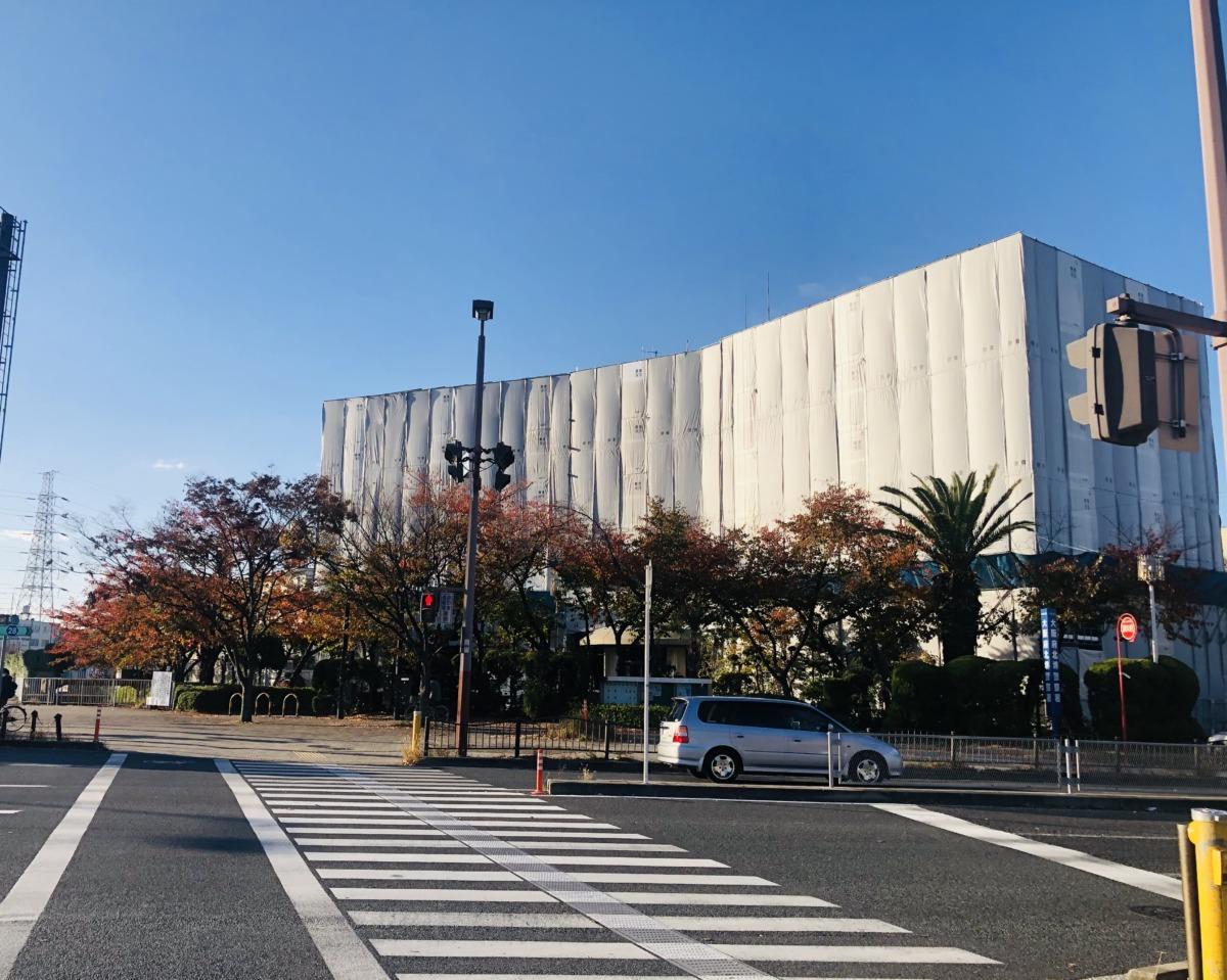 【業務は通常通り行われています】堺市北区・新金岡の大阪府北堺警察署が外装工事中☆:
