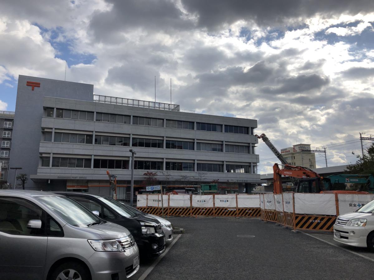 【2021.4月末☆完成予定】堺市中区役所の市民駐車場を拡張するための工事が行われています。: