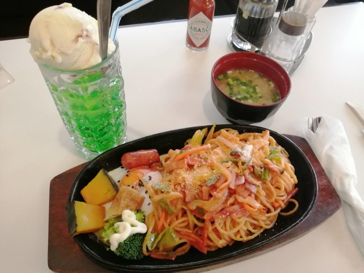 【純喫茶特集@堺市北区】1人でも入りやすい『純喫茶 鴻(ひろ)』の」クリームソーダと鉄板ナポリタンに大満足♡: