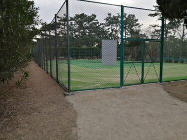 【2021.3/12改修工事終了予定】堺市西区・浜寺公園内にあるテニスコートが改修工事中ですよ!: