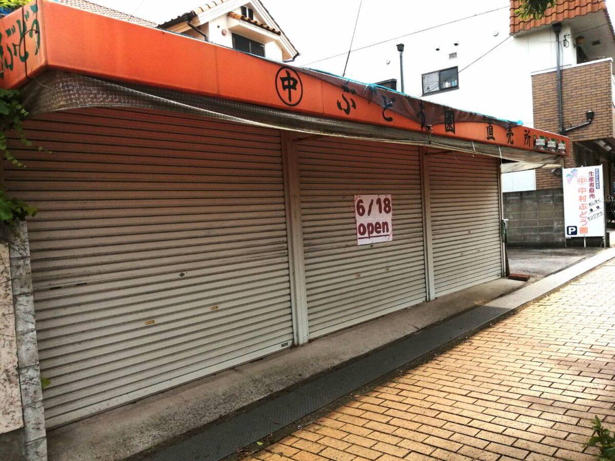 【毎年人気の直売所がまもなくオープン♪】大阪狭山市・葡萄の美味しい季節がやってきた♪陶器山通り沿い『中村ぶどう園直売所』がまもなくオープンしますよ~♪: