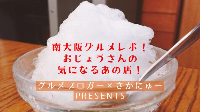 【3店舗目】ひんやり美味しい!老舗の超有名店!南大阪グルメレポ!おじょうさんの気になるあの店!【グルメブロガー×さかにゅーPresents】: